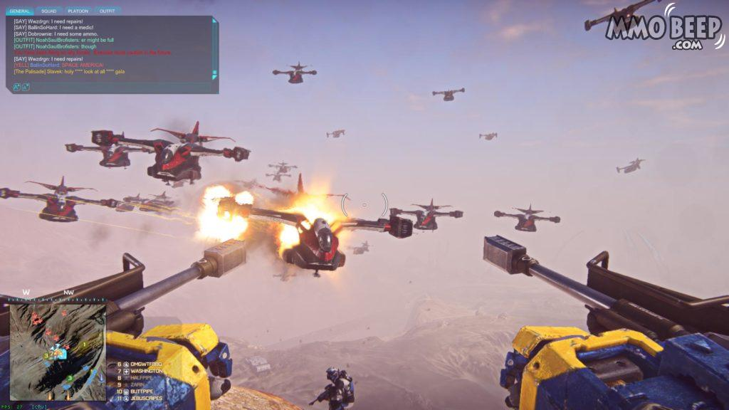 PlanetSide2 Massive Gameplay