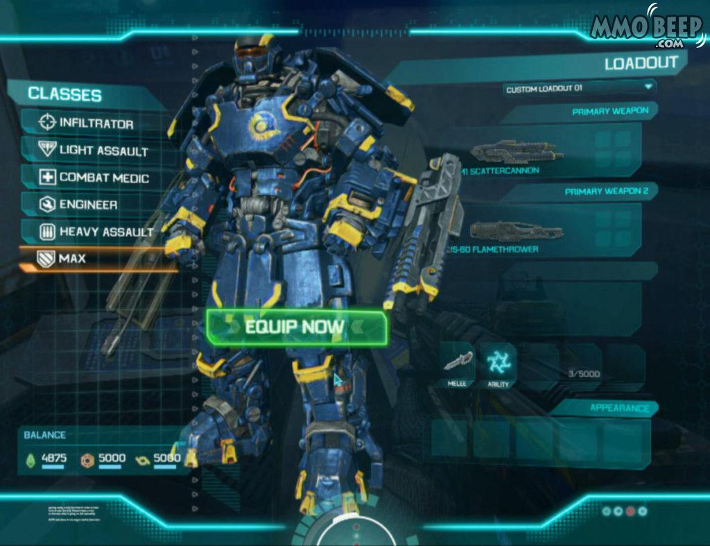 PlanetSide2 Max Customization Menu